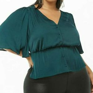 Forever 21Hunter Green Blouse